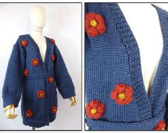 Quirky retro vintage cardigan bust 34 size 10 green white roses tie waist blogger Graceandgarbo Grace and Garbo