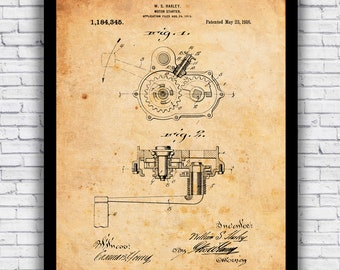 Awesome Vintage Harley Davidson Motorcycling Patents Diagram Design Etsy Wiring Digital Resources Cettecompassionincorg