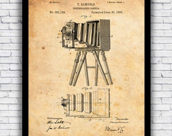 1938 Bell /& Howell Movie Camera Patent Print Art Drawing Poster 18X24