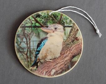 Blue-winged Kookaburra Photo Ornament