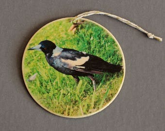 Australian Magpie Photo Ornament