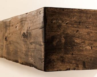 Matte Finished Fireplace Mantel, Fireplace Mantel, Mantel, Mantle, Rustic Mantel, Beam, Wood Mantel, Wall Shelf, Floating Mantel