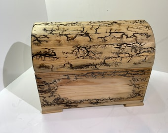 Wooden Jewelry or Precious items Box Handmade in UK Unique