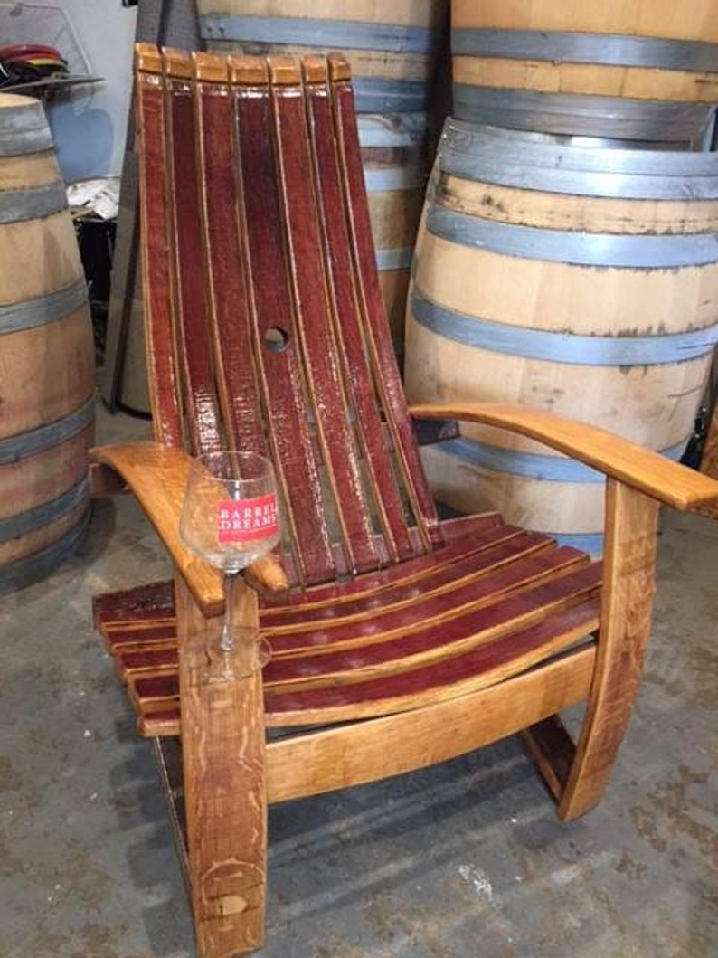 Wine Barrel Adirondack Chairs (French Oak )