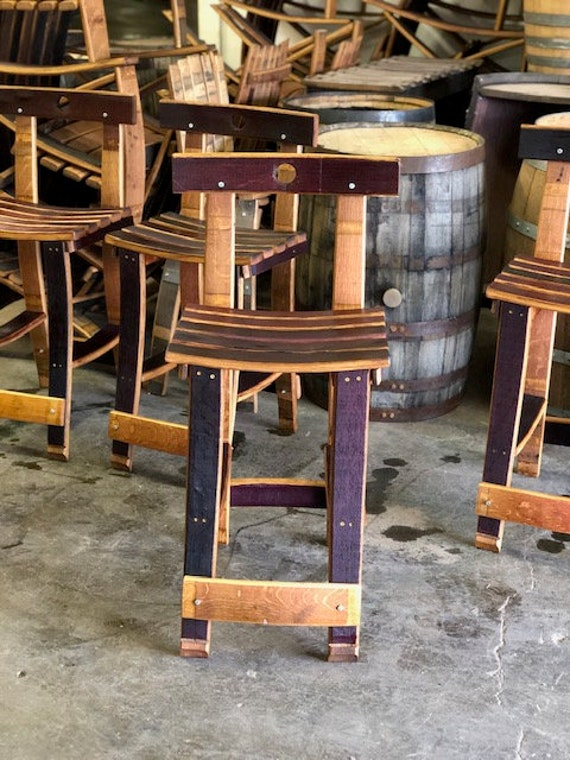 Marvelous Wine Barrel Bar And Counter Stool Machost Co Dining Chair Design Ideas Machostcouk
