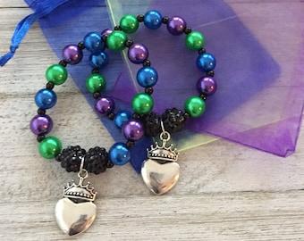 ONE Descendants Bracelet Birthday Party Favors Bracelets In Organza Bags Jewelry