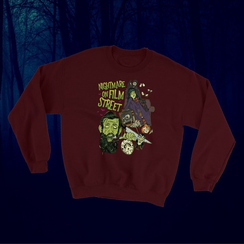 Horror Movie Marathon  Nightmare on Film Street Pullover image 0