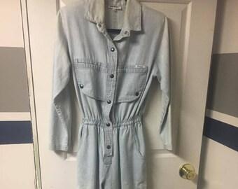 80s Jean Jump Suit