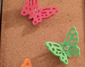 Butterfly Push Pins | Thumbtacks Set (3) | Office Decor | Office Organization