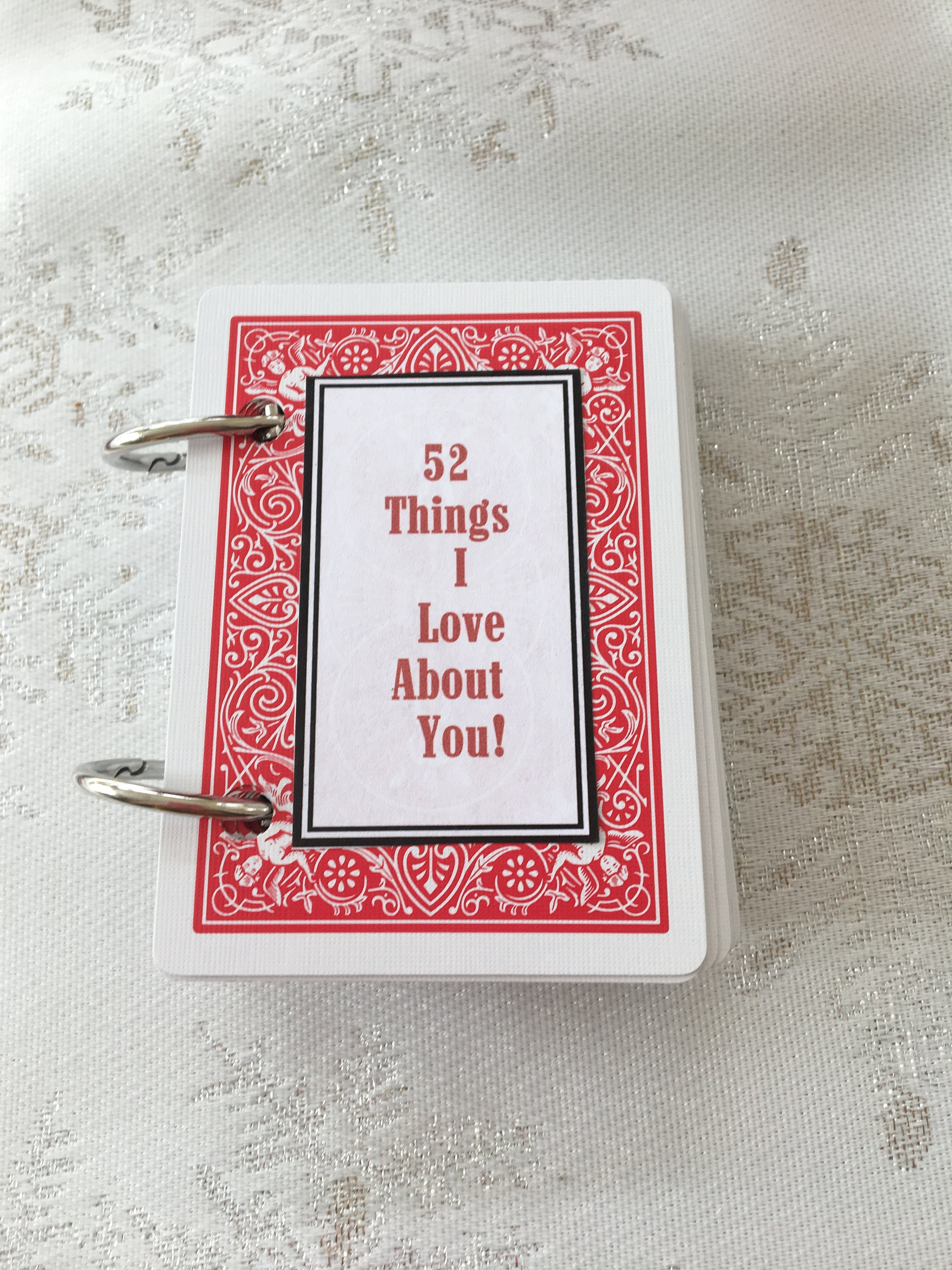 21 Things I Love About You Cards  Etsy Regarding 52 Things I Love About You Deck Of Cards Template