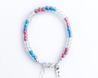 4th of July-Independence day-patriotic stacking bracelet-red white and blue-baby-toddler-little girl-jewelry-bracelet-initial charm bracelet