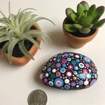 Multi Colored Whimsical Hand Painted Rock