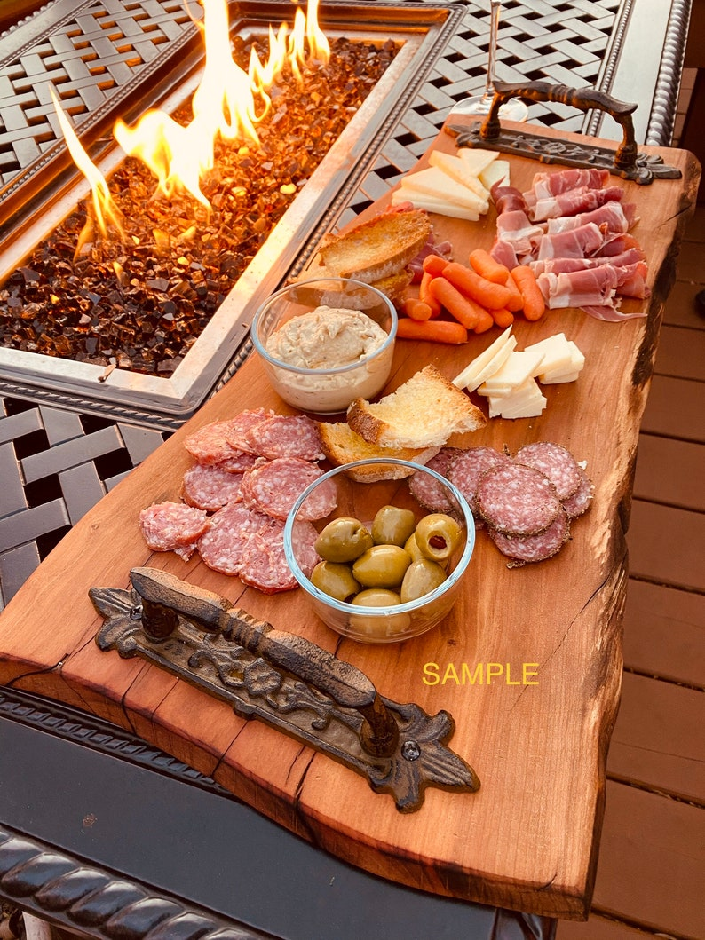 housewarmings gift cutting board vintage board Long Cherry Charcuterie Tray cheese board unique rustic decor Charcuterie Board