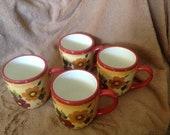 Oneida sunset bouquet coffee mugs