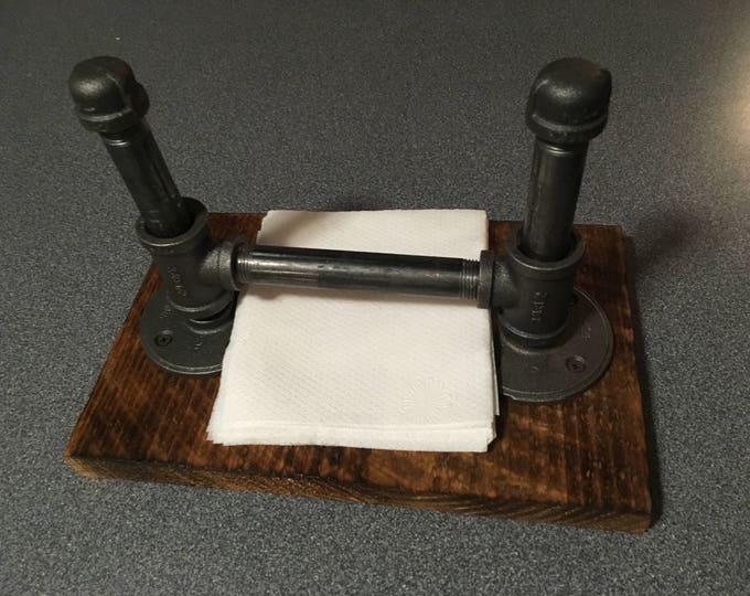 Rustic Kitchen Set - Wallmount Paper Towel Holder and Napkin Holder