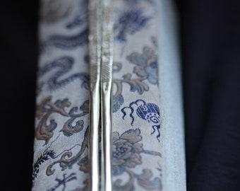 Beautiful 100% handmade 999 fine silver chopsticks