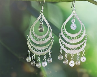 Teardrop Earrings handmade with fine silver