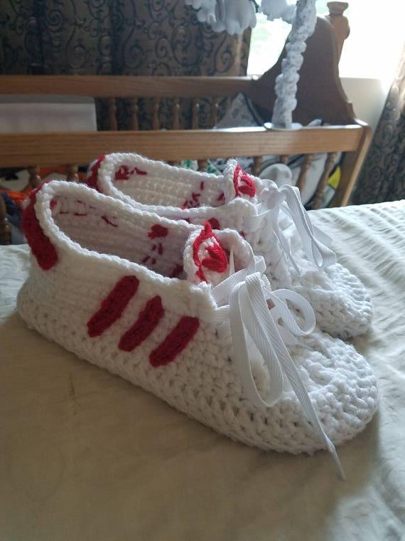 Crochet brand name logo shoes | Etsy