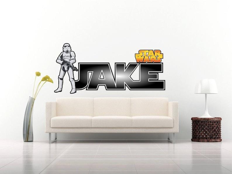 Star Wars Szturmowiec Spersonalizowanych Naklejki Scienne Dla Etsy