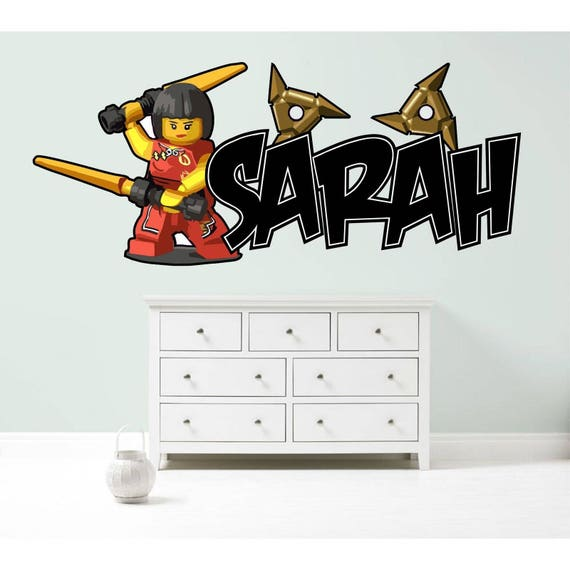 Lego Ninjago Cole Hole in Wall Printed Vinyl Sticker Decal Childrens Bedroom
