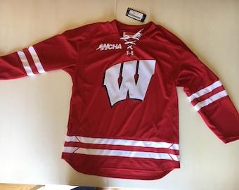 Wisconsin- Madison Hockey Jersey Under Armour- NEW NEVER WORN