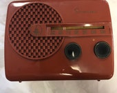 Rare 1950 39 s Emerson 646B vacuum tube radio in putty Bakelite Art Deco