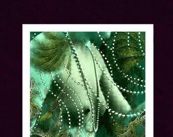 Mermaid. Sea Siren. Underwater Collage Art, Mermaids, Wall Art, Venus Prints, Giclee Print
