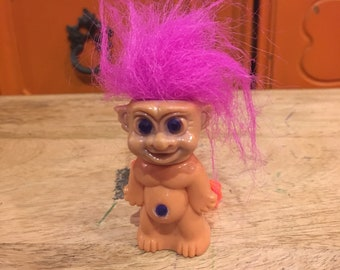 Vintage Troll Doll Yellow Hair Holds Bubbles Troll Vintage Rare 90/'s Treasure Trolls Nostalgia