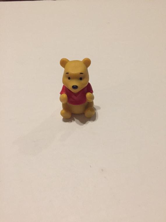 1990/'s Vintage Winnie the Pooh Toy Lot 2 Vintage Winnie the Pooh POOH BEAR PVC Cake Topper Figure