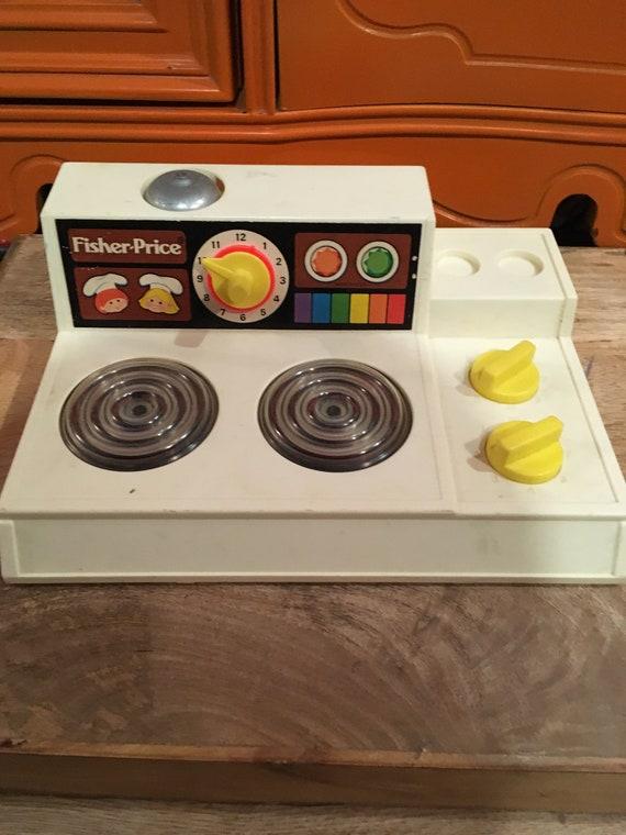 Vintage Fisher Price Fun With Play Food Magic Burner Stove Top 1978 Vintage Fisher Price Play Food Nostalgia