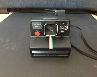 Vintage Rare Polaroid One Step SX-70 Black+ Rainbow Stripe Untested but in Great Shape