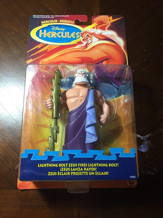 Disney Hercules Lightning Bolt Zeus Hercules Figure 90s Rare Etsy