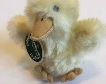 "Vintage Yellow Bearington Collection Stuffed Duckling ""Quackers"". Adorable! Plush"