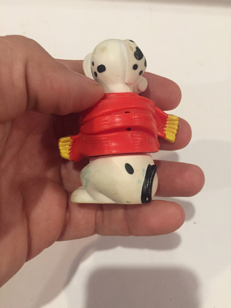 Lot 2 Vintage Disney 101 Dalmations Dog in Sweater PVC Cake Topper Rare Vintage Toy Fun Vintage Toy