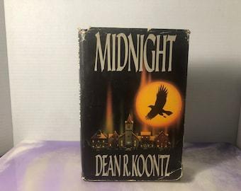 Vintage Book / Novel MIDNIGHT - Dean Koontz - Putnam Hardcover 1989 - Classic Novel