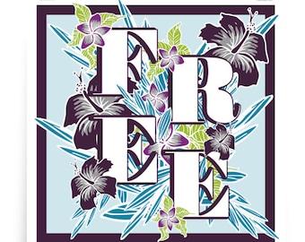 FREE Square Art Print - Phish Art, Floral Decor, Typography, Square Wall Art