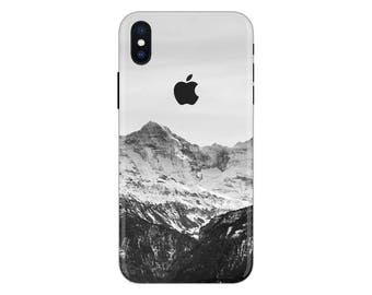 Forest iPhone Skin mountain iPhone decal iPhone sticker landscape iPhone 5 snow decal 6 iPhone x case SE 5s 6s 7s 7 plus 8 plus 10 PS-566