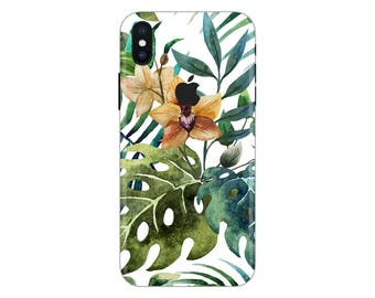 colorful iPhone Skin leafs iPhone decal nature iPhone sticker iPhone 5 decal iphone 6 iphone x case SE 5s 6s 7s 7 plus 8 plus 10 PS-533