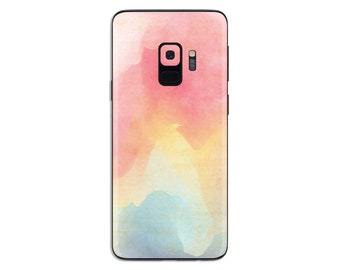 Rainbow watercolor paint texture Samsung galaxy Skin sticker phone decal painting decal S6 Edge plus S7 edge plus S8 Plus S9 Plus SS318