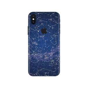 Blue Galaxy iPhone Skin space iPhone decal stars iPhone sticker iPhone 5 decal iPhone 6 iPhone x case SE 5s 6s 7s 7 plus 8 plus 10 PS-590