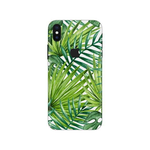 Flower iPhone Skin plants iPhone decal fern iPhone sticker floral iPhone 5 decal leaf iphone x case SE 5s 6s 7s 7 plus 8 plus 10 PS125