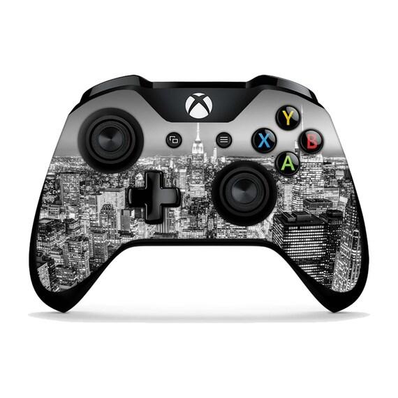 Ville Skyline Xbox One X peaux Xbox One S bâtiments stickers Xbox Elite une Xbox 360 new york vinyle peau autocollant contrôleur à distance XBC076