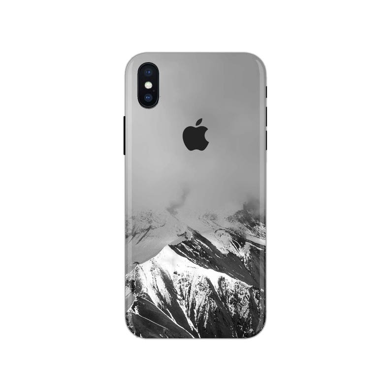 Forest iPhone Skin mountain iPhone decal snow iPhone sticker landscape iPhone 5 decal 6 iPhone x case SE 5s 6s 7s 7 plus 8 plus 10 PS-589