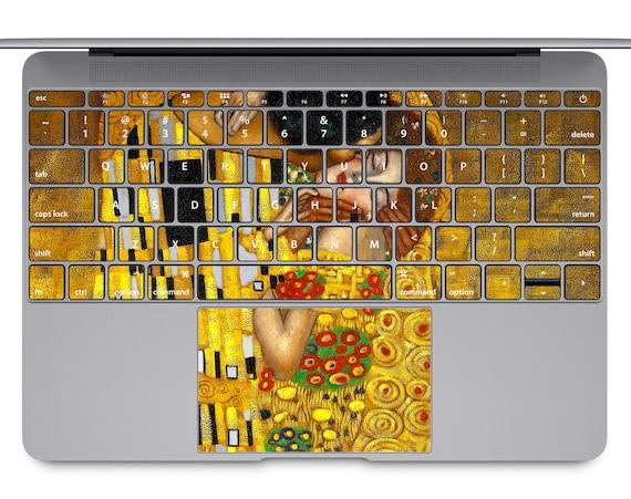 The Kiss MacBook keyboard art MacBook keys decal painting MacBook pro  sticker famous art MacBook Air keypad skin MacBook Retina case KB129