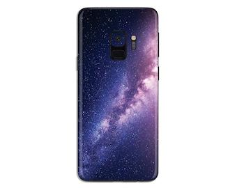Purple Galaxy Samsung galaxy Skin sticker space phone decal stars Samsung vinyl decal nebula S6 Edge plus S7 edge plus S8 Plus S9 Plus SS017