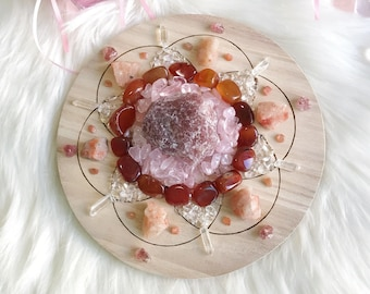 20cm Friendship and Joy Complete Set of Crystal Grid