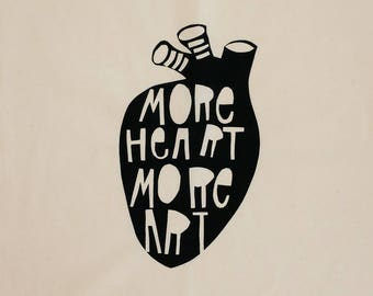 Anatomical Heart Screen Printed Calico Wall Hanging