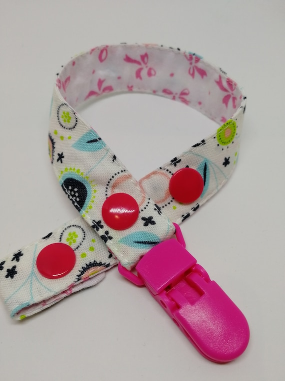 Fabric Dummy Clip Holder Baby Kids Pacifier Soother Strap 25mm UK BUY2GET1FREE
