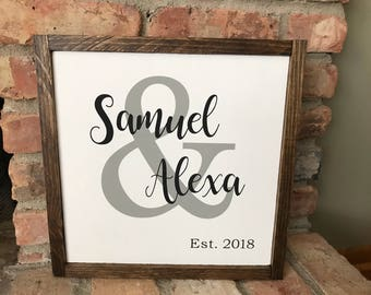Personalized Wood Ampersand Sign | And Sign | Custom Wedding Date Sign | Personalized Wedding Sign | Wooden Wedding Sign | Date