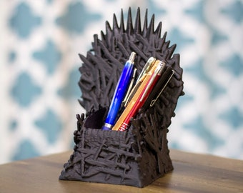 ff0b76f29a1 The Iron Throne | Game of Thrones | 3D Throne | Cake Topper | Pencil Cup | Pen  Holder | Desktop Decor | Winter Is Coming